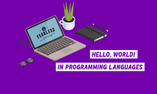 Hello, World! in programming languages.